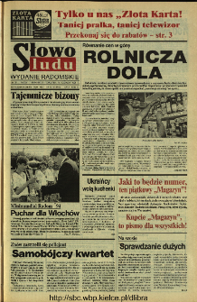 Słowo Ludu 1994, XLV, nr 137 (wydanie radomskie)