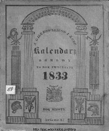 A. Gałęzowskiego i Spółki Kalendarz Domowy i Gospodarski na Rok Zwyczayny ... : na południk Warszawski ułożony.1833