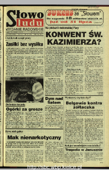 Słowo Ludu 1995, XLV, nr 170 (radomskie)