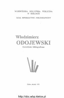 Włodzimierz Odojewski : zestawienie bibliograficzne