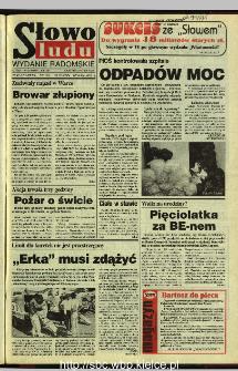 Słowo Ludu 1995, XLV, nr 172 (radomskie)