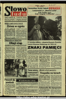 Słowo Ludu 1995, XLV, nr 181 (Nad Wisłą i Kamienną)