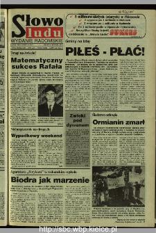 Słowo Ludu 1995, XLV, nr 182 (radomskie)