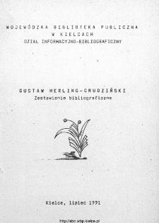 Gustaw Herling-Grudziński : zestawienie bibliograficzne.