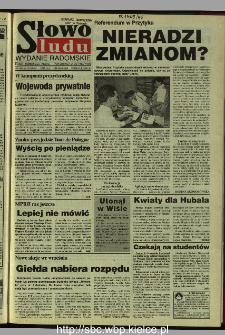 Słowo Ludu 1995, XLV, nr 192 (radomskie)