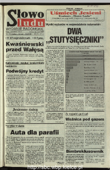 Słowo Ludu 1995, XLV, nr 258 (radomskie)