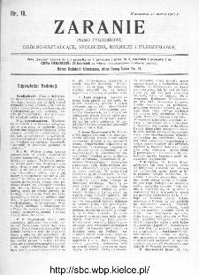 Zaranie : pismo tygodniowe ogólno-kształcące, społeczne, rolnicze i przemysłowe 1910, nr 10