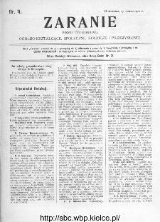 Zaranie : pismo tygodniowe ogólno-kształcące, społeczne, rolnicze i przemysłowe 1910, nr 11