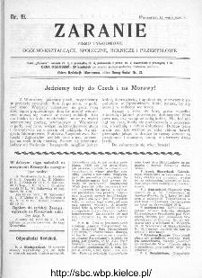 Zaranie : pismo tygodniowe ogólno-kształcące, społeczne, rolnicze i przemysłowe 1910, nr 19