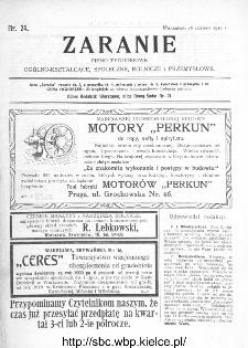 Zaranie : pismo tygodniowe ogólno-kształcące, społeczne, rolnicze i przemysłowe 1910, nr 24