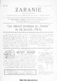 Zaranie : pismo tygodniowe ogólno-kształcące, społeczne, rolnicze i przemysłowe 1910, nr 51