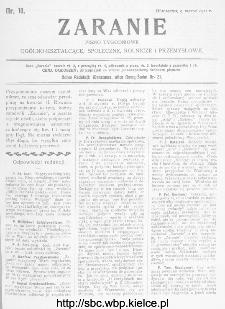 Zaranie : pismo tygodniowe ogólno-kształcące, społeczne, rolnicze i przemysłowe 1911, nr 10