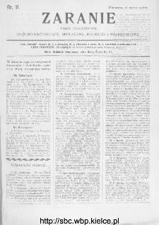 Zaranie : pismo tygodniowe ogólno-kształcące, społeczne, rolnicze i przemysłowe 1911, nr 11