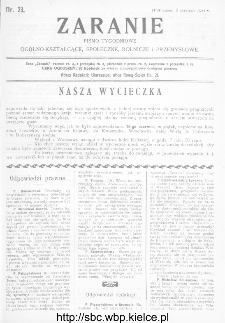 Zaranie : pismo tygodniowe ogólno-kształcące, społeczne, rolnicze i przemysłowe 1911, nr 23