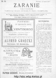 Zaranie : pismo tygodniowe ogólno-kształcące, społeczne, rolnicze i przemysłowe 1911, nr 26