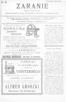 Zaranie : pismo tygodniowe ogólno-kształcące, społeczne, rolnicze i przemysłowe 1911, nr 28