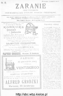 Zaranie : pismo tygodniowe ogólno-kształcące, społeczne, rolnicze i przemysłowe 1911, nr 33