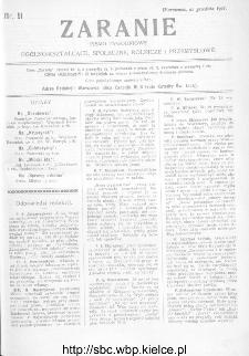 Zaranie : pismo tygodniowe ogólno-kształcące, społeczne, rolnicze i przemysłowe 1911, nr 51