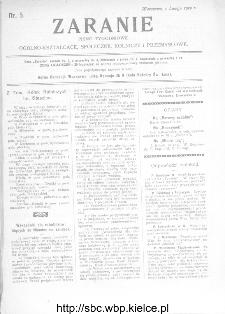 Zaranie : pismo tygodniowe ogólno-kształcące, społeczne, rolnicze i przemysłowe 1912, nr 5