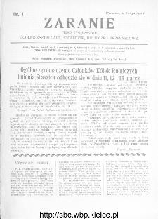 Zaranie : pismo tygodniowe ogólno-kształcące, społeczne, rolnicze i przemysłowe 1912, nr 9