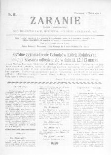 Zaranie : pismo tygodniowe ogólno-kształcące, społeczne, rolnicze i przemysłowe 1912, nr 10