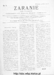 Zaranie : pismo tygodniowe ogólno-kształcące, społeczne, rolnicze i przemysłowe 1912, nr 11