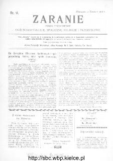 Zaranie : pismo tygodniowe ogólno-kształcące, społeczne, rolnicze i przemysłowe 1912, nr 14