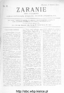 Zaranie : pismo tygodniowe ogólno-kształcące, społeczne, rolnicze i przemysłowe 1912, nr 16