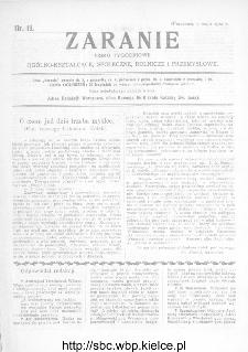 Zaranie : pismo tygodniowe ogólno-kształcące, społeczne, rolnicze i przemysłowe 1912, nr 19