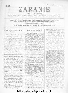 Zaranie : pismo tygodniowe ogólno-kształcące, społeczne, rolnicze i przemysłowe 1912, nr 23