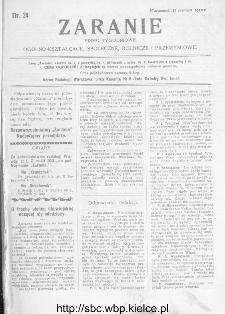 Zaranie : pismo tygodniowe ogólno-kształcące, społeczne, rolnicze i przemysłowe 1912, nr 24