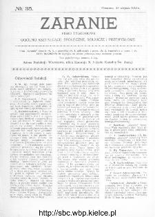 Zaranie : pismo tygodniowe ogólno-kształcące, społeczne, rolnicze i przemysłowe 1912, nr 35