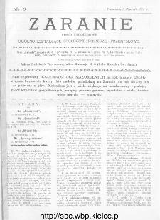 Zaranie : pismo tygodniowe ogólno-kształcące, społeczne, rolnicze i przemysłowe 1913, nr 2