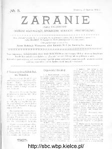 Zaranie : pismo tygodniowe ogólno-kształcące, społeczne, rolnicze i przemysłowe 1914, nr 3
