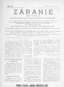 Zaranie : pismo tygodniowe ogólno-kształcące, społeczne, rolnicze i przemysłowe 1914, nr 8