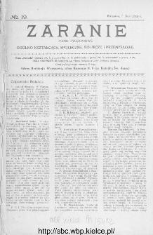Zaranie : pismo tygodniowe ogólno-kształcące, społeczne, rolnicze i przemysłowe 1914, nr 19