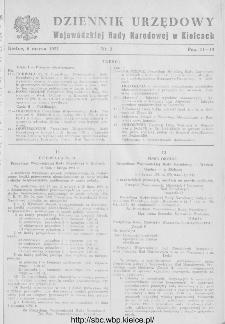 Dziennik Urzędowy Wojewódzkiej Rady Narodowej w Kielcach 1951, nr 2