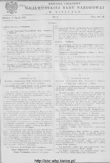 Dziennik Urzędowy Wojewódzkiej Rady Narodowej w Kielcach 1951, nr 6