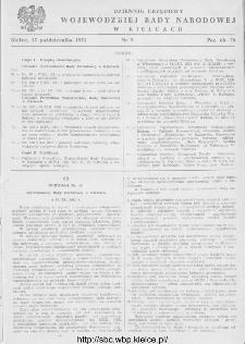 Dziennik Urzędowy Wojewódzkiej Rady Narodowej w Kielcach 1951, nr 9
