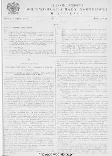 Dziennik Urzędowy Wojewódzkiej Rady Narodowej w Kielcach 1952, nr 7