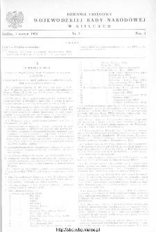 Dziennik Urzędowy Wojewódzkiej Rady Narodowej w Kielcach 1954, nr 2