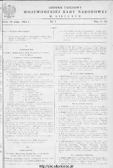 Dziennik Urzędowy Wojewódzkiej Rady Narodowej w Kielcach 1955, nr 5