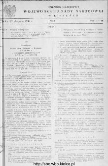 Dziennik Urzędowy Wojewódzkiej Rady Narodowej w Kielcach 1956, nr 9
