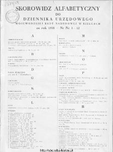 Dziennik Urzędowy Wojewódzkiej Rady Narodowej w Kielcach 1958, nr 1