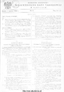 Dziennik Urzędowy Wojewódzkiej Rady Narodowej w Kielcach 1958, nr 2
