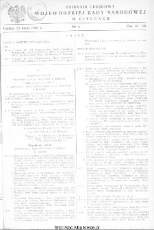 Dziennik Urzędowy Wojewódzkiej Rady Narodowej w Kielcach 1958, nr 4