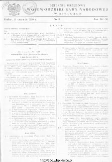 Dziennik Urzędowy Wojewódzkiej Rady Narodowej w Kielcach 1958, nr 5