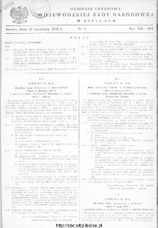 Dziennik Urzędowy Wojewódzkiej Rady Narodowej w Kielcach 1958, nr 8