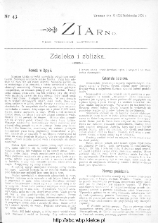 Ziarno : pismo tygodniowe ilustrowane 1902, nr 43