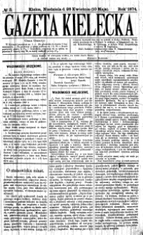 Gazeta Kielecka, 1872, R.3, nr 12